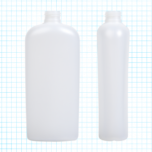 HDPE Oval Bottle on Grid